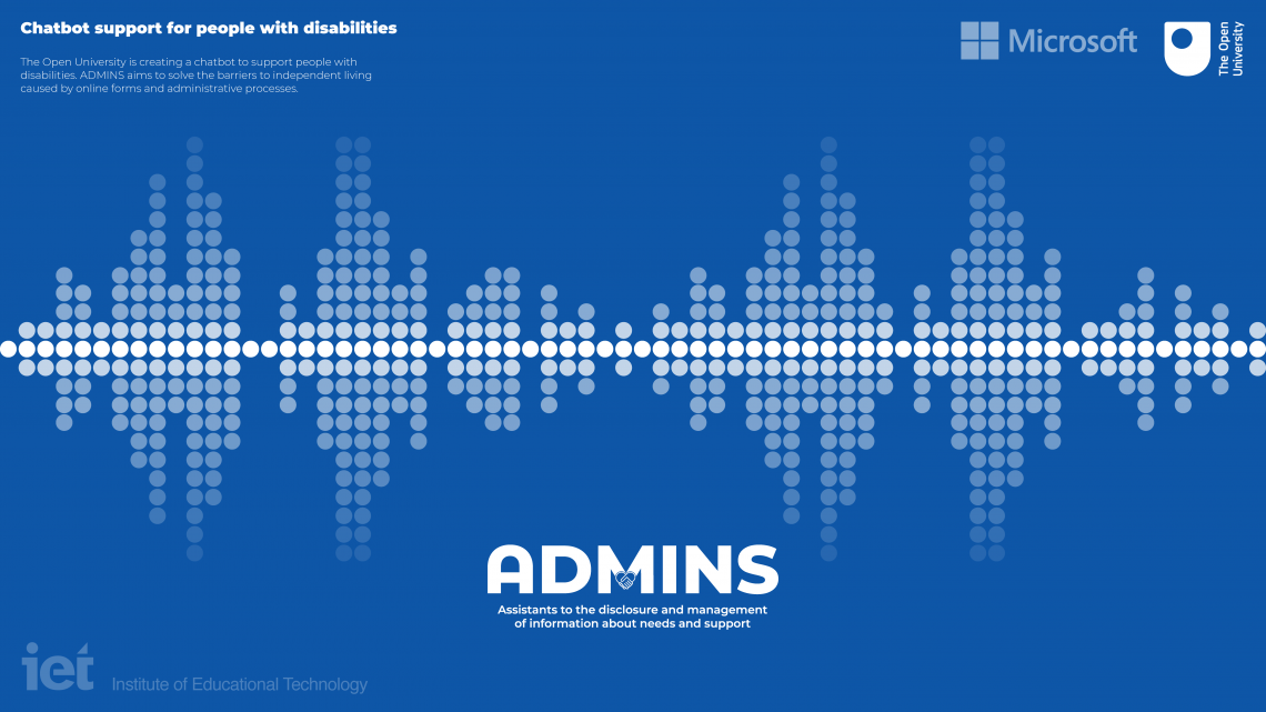 ADMINS project - Assistants to the disclosure and management of information about needs and support